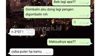 6 Chat Gombal Suruh Balik HP ke Pasangan Ini Bikin Baper (sumber: Instagram.com/awreceh.id)