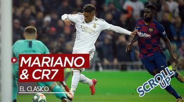 Berita video Scroll Up kali ini membahas Mariano Diaz dan Cristiano Ronaldo yang menjadi sorotan saat El Clasico, laga Real Madrid vs Barcelona, di Santiago Bernabeu.