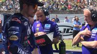 Pembalap Movistar Yamaha, Maverick Vinales berharap bisa bangkit pada MotoGP Italia 2018 di Sirkuit Mugello. (Twitter/Yamaha MotoGP)