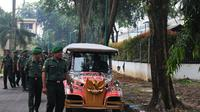 Mobil yang akan digunakan Jokowi untuk antar-jemput ke lokasi ngunduh mantu di Medan, Sumatera Utara. (Liputan6.com/Reza Efendi)