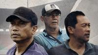 Jebolan Timnas SEA GAmes 1991 yang sukses jadi pelatih: Widodo Cahyono Putro, Bambang Nurdiansyah dan Aji Santoso. (Bola.com/Dody Iryawan)
