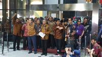 Pimpinan KPK menggelar jumpa pers, Jumat (13/9/2019). (Liputan6.com/ Nanda Perdana Putra)