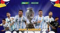Timnas Argentina juara Copa America 2021. (SocMed KLY)