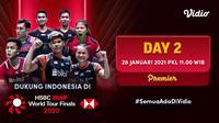 Streaming babak penyisihan grup BWF World Tour Finals 2020 hari kedua, Kamis (28/1/2021) pukul 11.00 WIB dapat disaksikan melalui platform Vidio. (Dok. Vidio)