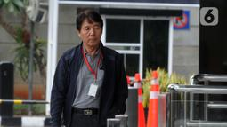 General Manager Hyundai Engineering Construction, Henry Jung memenuhi panggilan penyidik KPK untuk menjalani pemeriksaan di Jakarta, Kamis (5/12/2019). Henry Jung diperiksa sebagai tersangka dugaan suap proses perizinan proyek Pembangkit Listrik Tenaga Uap (PLTU) 2 Cirebon. (merdeka.com/Dwi Narwoko)