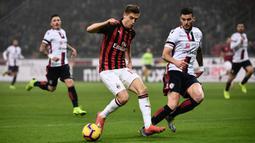 Krzysztof Piatek baru saja bergabung dengan AC Milan setelah didatangkan dari Genoa. (AFP/Marco Bertorello)