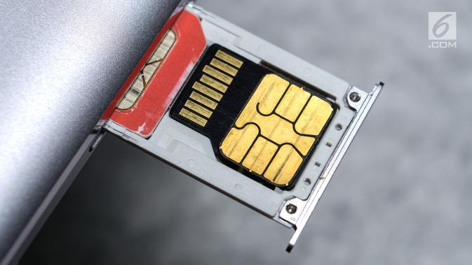 Ilustrasi Foto Kartu SIM Telpon Seluler / HP. (iStockphoto)