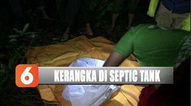 Kerangka manusia ditemukan terkubur dalam sebuah septic tank di Bantul, D.I Yogyakarta.