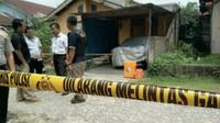 Salah satu rumah terduga teroris yang pernah digrebek Densus 88 di Kabupaten Kampar. (Liputan6.com/M Syukur)