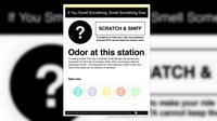 Seorang seniman menciptakan poster yang dapat menyebarkan bau khas stasiun bawah tanah.
