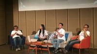 Konferensi pers Nyanyi Sunyi Revolusi yang dibawakan oleh sutradara dan produser diselenggarakan Sabtu (12/1/2019) di Galeri Indonesia Kaya. (dok. Liputan6.com/Esther Novita Inochi)