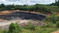 Lokasi penggalian batu bara di Belakang SMK Muhammadiyah Berau, Jalan Kedaung, Kecamatan Tanjung Redeb.