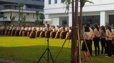 Menteri Energi dan Sumber Daya Mineral (ESDM) Sudirman Said melepas 120 patriot energi. (Foto: Septian Deny/Liputan6.com)