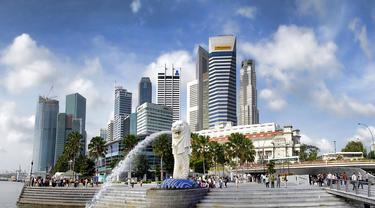 Merlion Park, Singapura.