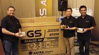 Aki motor GS Gold menawarkan garansi dua tahun pemakaian. (Septian / Liputan6.com)