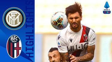 Berita video highlights Serie A 2019-2020 antara Inter Milan melawan Bologna yang berakhir dengan skor 1-2 di Giuseppe Meazza, Minggu (5/7/2020) malam hari WIB.