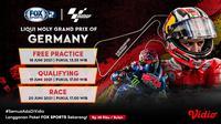 Live Streaming MotoGP 2021 Seri Jerman di FOX Sports Eksklusif Melalui Vidio, 18-20 Juni. (Sumber : dok. vidio.com)