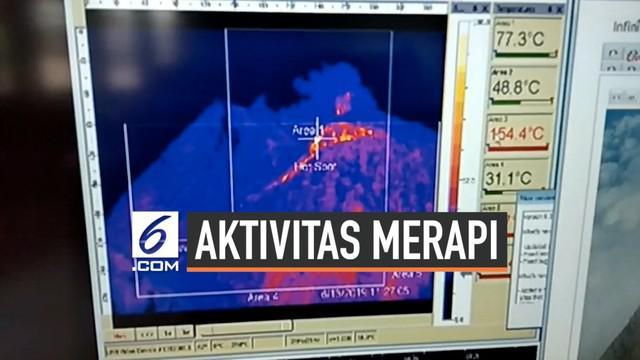 Gunung Merapi kembali luncurkan 5 kali lava pijar. luncuran lava pijar mencapai 950 meter ke arah huulu kali gendol. mesi demikian status Merapi masih waspada dengan jarak aman 3 kilometer dari kawah.