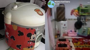 Tampilan rumah dihiasi tokoh kartun Mickey Mouse.