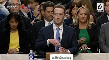 CEO Facebook Mark Zuckerberg meminta maaf di hadapan wakil rakyat Amerika terkait penyalahgunaan data 87 juta penggunanya.