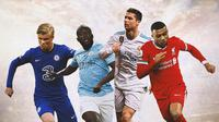 Ilustrasi - Erling Haaland, Romelu Lukaku, Cristiano Ronaldo, Kylian Mbappe (Bola.com/Adreanus Titus)