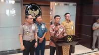 Wiranto mengumumkan bahwa pemerintah mengkaji ulang soal penjabat gubernur dari kalangan Polri (Liputan6.com/ Putu Merta Surya Putra)