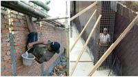Potret Lucu Saat Tukang Bangunan Beratraksi Ini Bikin Ketawa Geli (sumber:1cak.com)