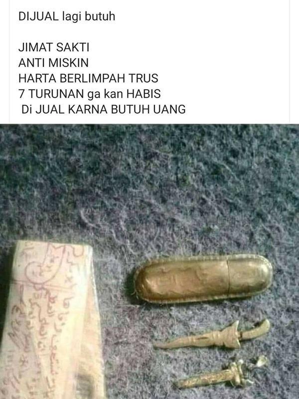 Benda Nyeleneh yang Dijual di Facebook (Sumber: 1cak)