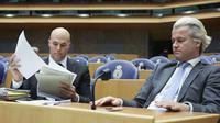 Joram van Klaveren, mantan eks tangan kanan politikus yang pernah menghinda Nabi Muhammad, kini beralih masuk Islam (AFP/Martijn Beekman)