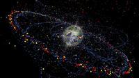 Ilustrasi kepingan sampah sebesar bintik cat yang dapat merusak pesawat luar angkasa. (Via: topics.cbc.ca)