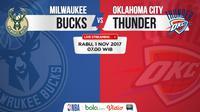 Jadwal NBA, Milwaukee Bucks vs Oklahoma City Thunder. (Bola.com/Dody Iryawan)