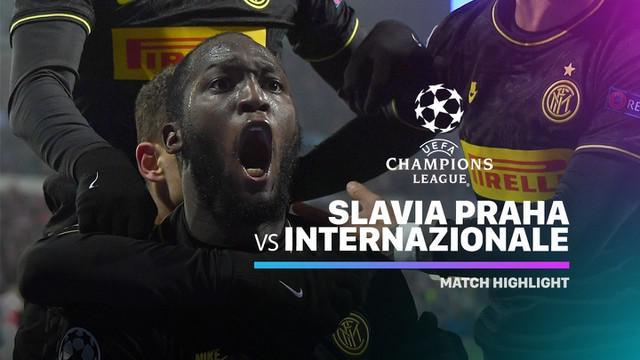 Berita Video Highlights Liga Champions, Slavia Praha Vs Inter Milan 1-3