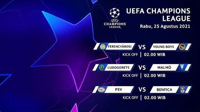 Berita Video promo siaran play-off Liga Champions di Vidio, salah satunya PSV Vs Benfica pada Rabu (25/8/21)