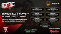 Streaming Login Battle Series Free Fire Babak League Day Hanya di Vidio. (Sumber : dok. vidio.com)