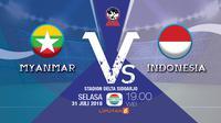 Myanmar Vs Indonesia AFF U-16 2018