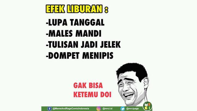Top 3 Deretan Meme Kocak Libur Lebaran Telah Usai Citizen6