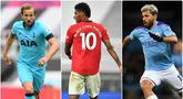 Pemain dengan nomor punggung 10 bisa dikatakan adalah pemain yang menjadi andalan sebuah klub. Berikut 6 pemain bernomor punggung 10 yang menjadi andalan di klub Premier League. (Kolase foto AFP)