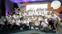 Tim putra dan putri Jakarta BNI 46 dalam acara perkenalan tim untuk kompetisi Proliga 2020 di Jakarta, Kamis (16/1/2020). (foto: istimewa)