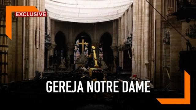 Gereja Katedral Notre Dame alami kebakaran hebat bulan April silam. Setelah hampir sebulan, bagaimana kondisi bangunan bersejarah tersebut?