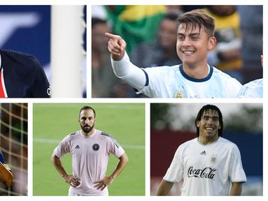 Kumpulan foto-foto pemain yang pernah menjadi rekan satu tim bareng dengan Cristiano Ronaldo dan Lionel Messi. (Foto: AFP)