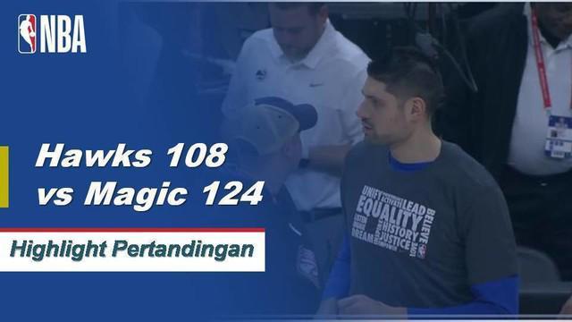 Nikola Vucevic mencetak skor 19 saat Magic menang atas Hawks, 124-108.