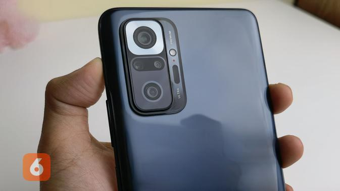 Redmi Note 10 Pro hadir dengan 4 kamera utama, salah satunya adalah 108MP (Liputan6.com/ Agustin Setyo W).