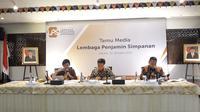 konferensi pers hasil Rapat Dewan Komisioner Lembaga Penjamin Simpanan (LPS), Jakarta, Selasa (30/10/2018). (Dwi Aditya Putra/Merdeka.com)
