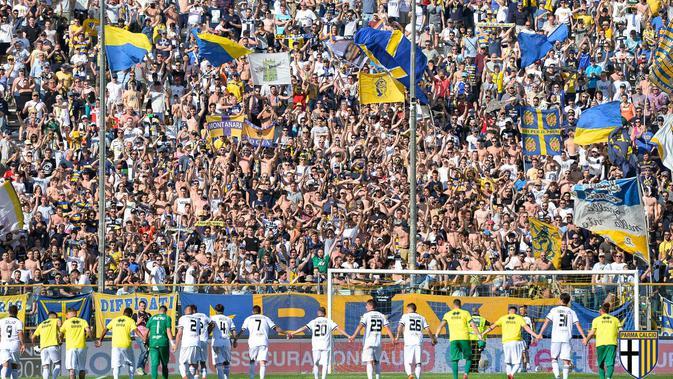 Parma memastikan promosi ke Serie A pada musim depan. (AC Parma)