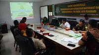 Rapat Tim Pakem membahas temuan aliran terindikasi sesat di Pekanbaru. (Liputan6.com/M Syukur)