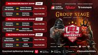 Pertandingan lengkap babak kedua IEL Univeristy Super Series 2021 dapat disaksikan melalui platform Vidio, laman Bola.com, dan Bola.net. (Dok. Vidio)