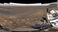 Rover Curiosity milik NASA saat menjalani ekspedisi di permukaan planet Mars. (Foto: NASA).
