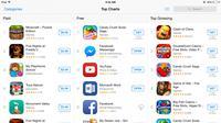 Aplikasi gratisan masih tersedia di AppStore, hanya saja labelnya berganti menjadi 'Get', bukan 'Free' seperti biasanya.