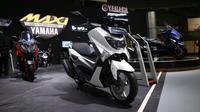 Deretan sepeda motor Yamaha Maxi hadir di acara Indonesia Motorcycle Show (IMOS) 2018. (Herdi Muhardi)