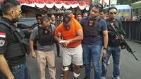 Teguh (39), Penjambret Wanita Gendong Bayi di Tanjung Duren Jakarta Barat, Ditembak Polisi, Kamis (4/7/2019). (Foto: Ady Anugrahadi/Liputan6.com)